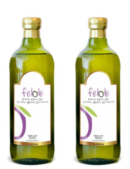 2 Pieces Cold Press 1 Lt Felole Natural First Olive Oil