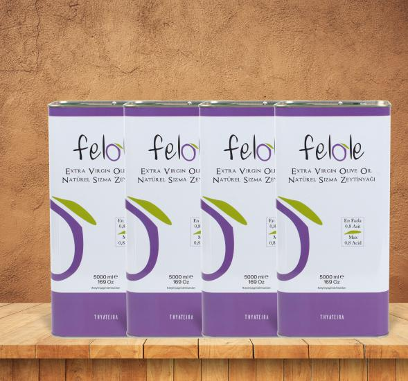 4 Pcs Early Harvest Cold Pressed 5 LT Felole Natural Extra Virgin Olive Oil