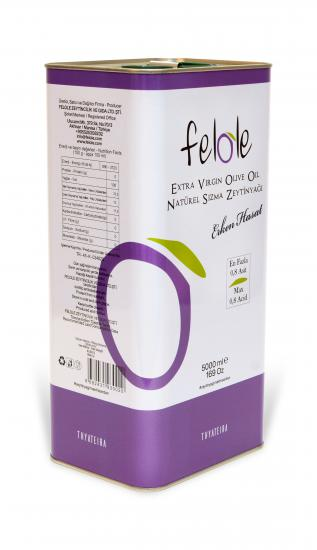 Cold Pressed Early Harvest 5 Lt Felole Extra Virgin Olive Oil